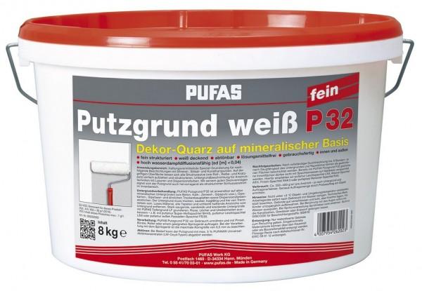 PUFAS Putzgrund weiß P32 fein