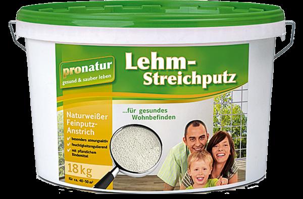 PUFAS pronatur Lehm-Streichputz fein gekörntes Naturweiß